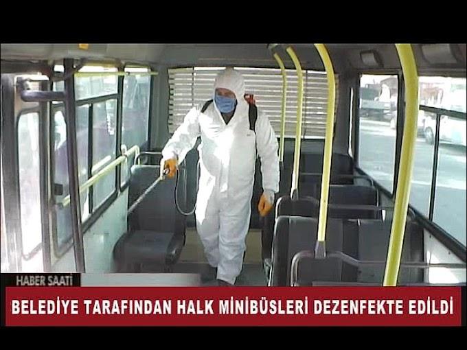 TOPLU TAŞIMA ARAÇLARI DEZENFEKTE EDİLDİ