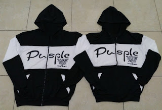 Jual Online Jacket Pusple Couple Murah Jakarta Bahan Babytery Terbaru