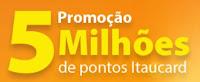 Promoção 5 Milhões de Pontos Itaucard 5milhoesdepontos.com.br