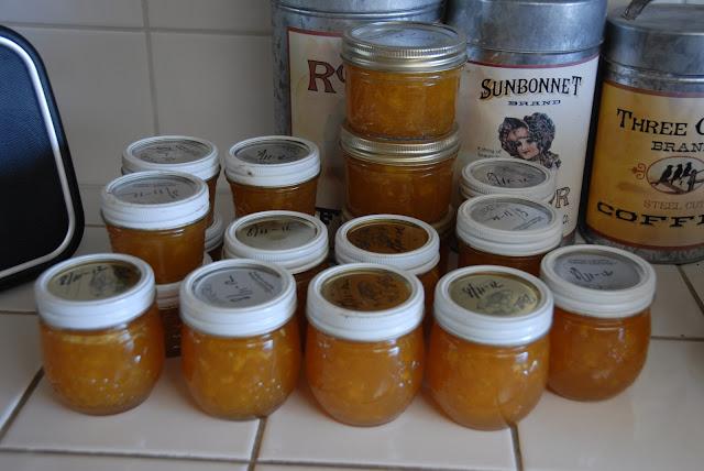 homemade peach jam: LadyD Books