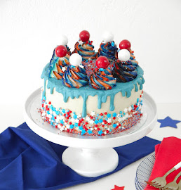 Awe Inspiring Red White And Blue 4Th Of July Layer Cake Party Ideas Party Personalised Birthday Cards Arneslily Jamesorg