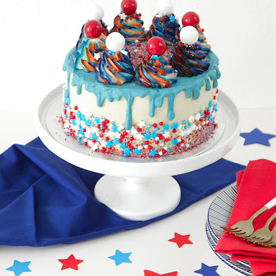 Red, White and Blue 4th of July Layer Cake