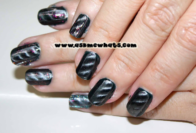 a photo of magnetic nail polish nail art