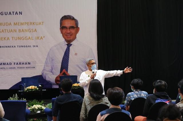 Sosialisasi Penguatan 4 Pilar Kebangsaan, Ini Pesan Muhammad Farhan Kepada Mahasiswa Di Bandung