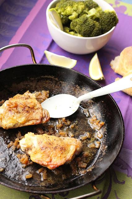 poulet citron confit poele