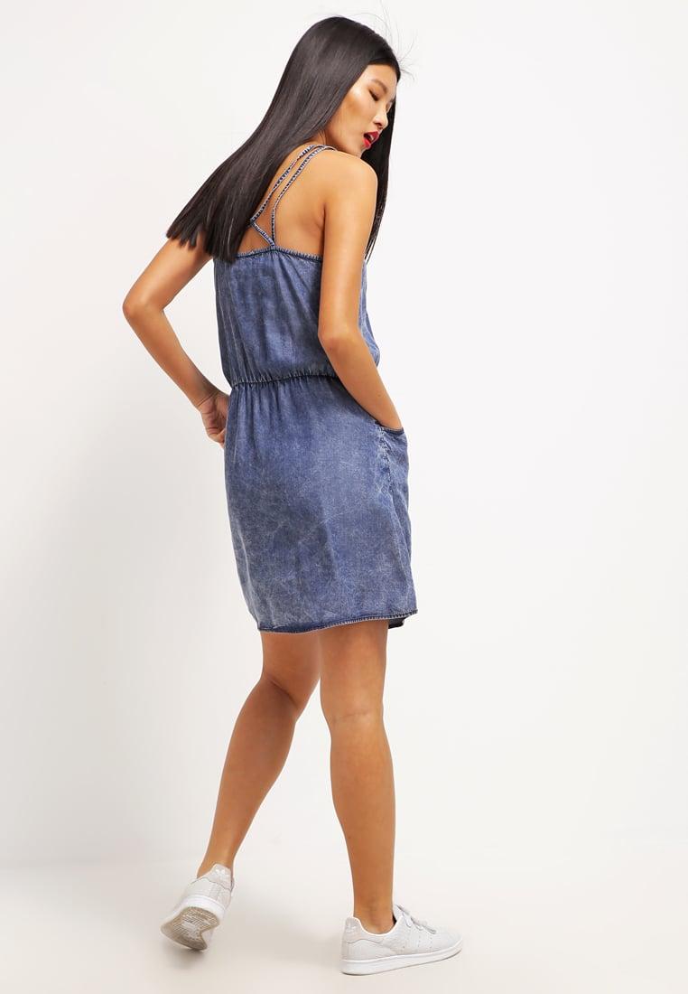 jeansowa sukienka, sukienka na ramiączkach, dżinsowa