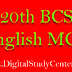 20th BCS English MCQ