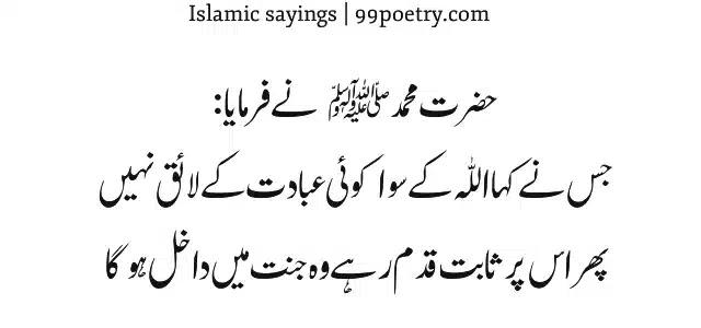 Hazrat Muhammad, Sallal lahu Alaihe Wa alehi Wassallam-sayings urdu