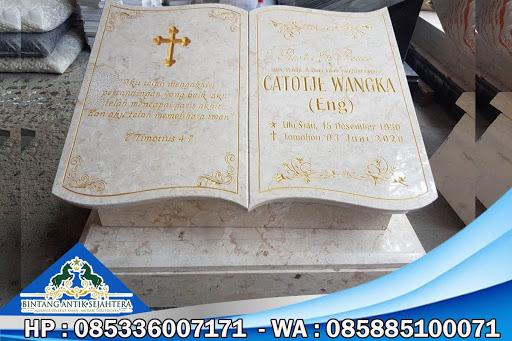 Nisan Katolik, Contoh Batu Nisan Katolik, Batu Nisan Marmer Kristen
