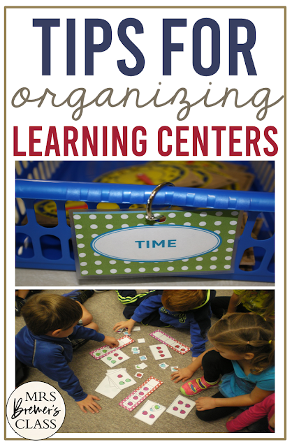 Teacher tips for Organizing Learning Centers in the classroom
