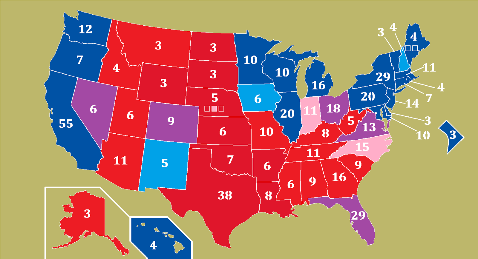 MICHAELS RANT GENERAL ELECTION PREDICTION INSIDE DAYS - Us election prediction map