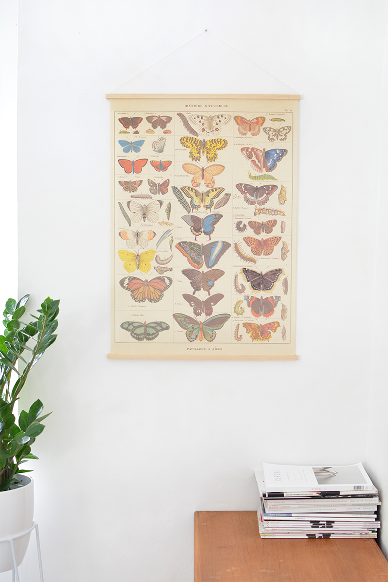how to- easy hanging poster frame