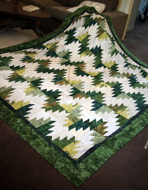 Green Scrappy Mountain Majesties Quilt By Quiltville's Quips & Snips