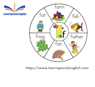 Words that start with the letter F for kids with pictures