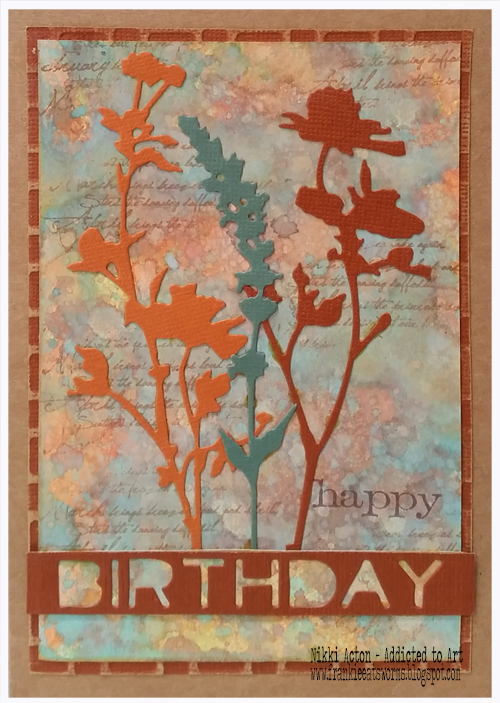 Distress Oxide and Wildflower Birthday Cards - Nikki Acton