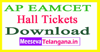 AP EAMCET Hall Tickets 2019 APEAMCET Admit Card Download