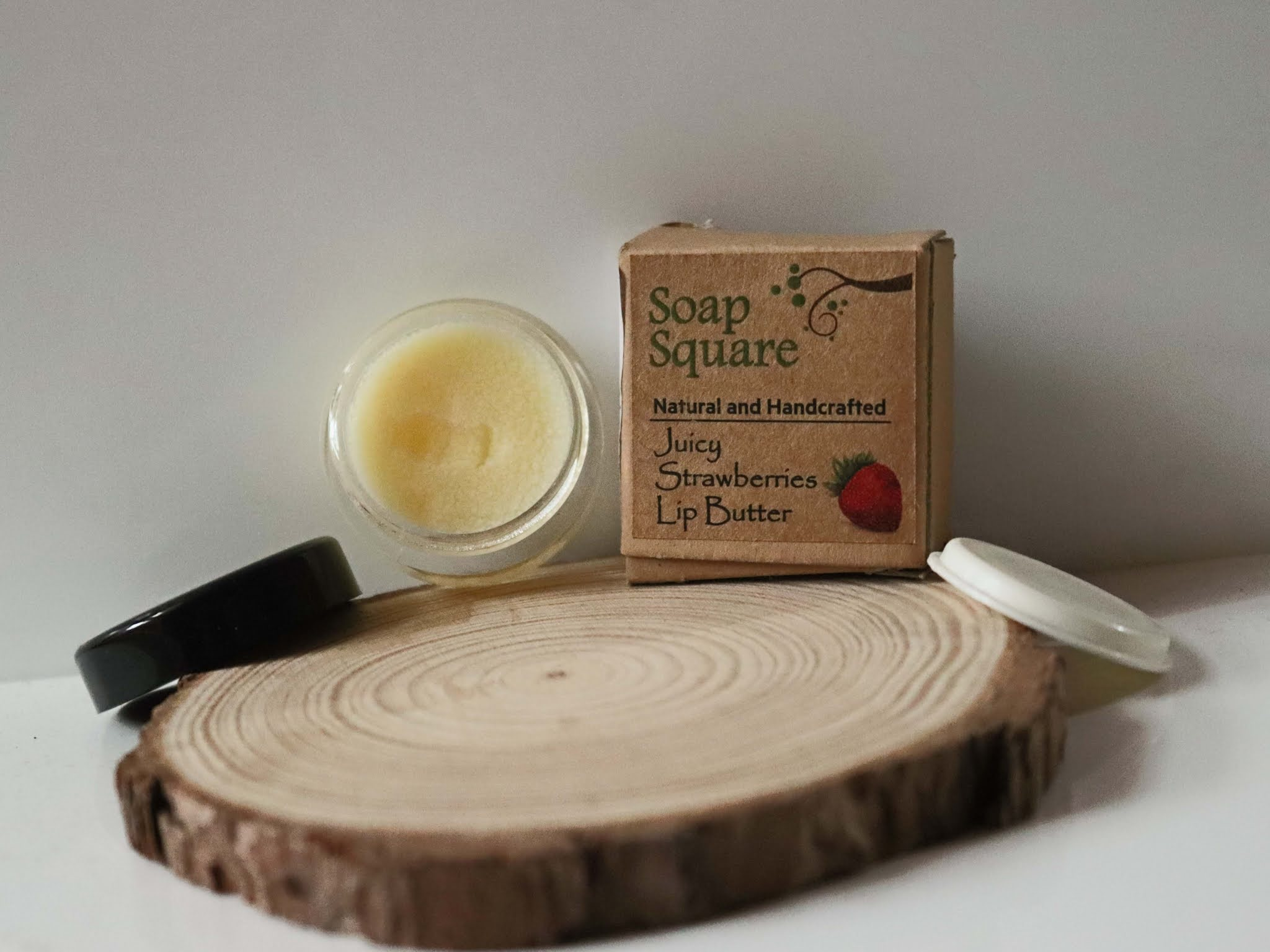Soap Square Strawberry Lip Butter