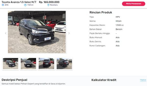 tempat jual beli mobil online
