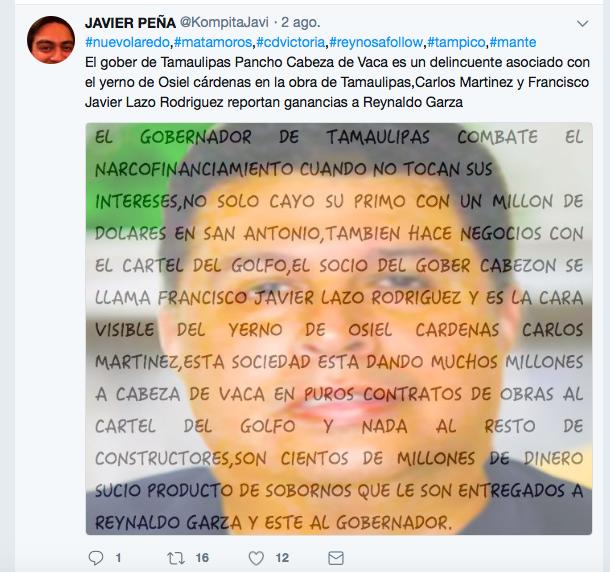 """Gobernador CABEZA de VACA """"SALIÓ MAS RATA"""", CIFRAS de la CORRUPCIÓN """"HABLAN y NO HABLAN BIEN""""... Tuiter"""