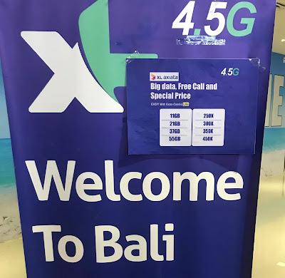 Bali Itinerary - Cost of SIM