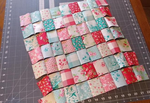 Laura Ashley Elm Park mini quilt with scalloped edges