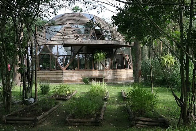 Moon To Moon The Beautiful Wooden Dome House In A Forest