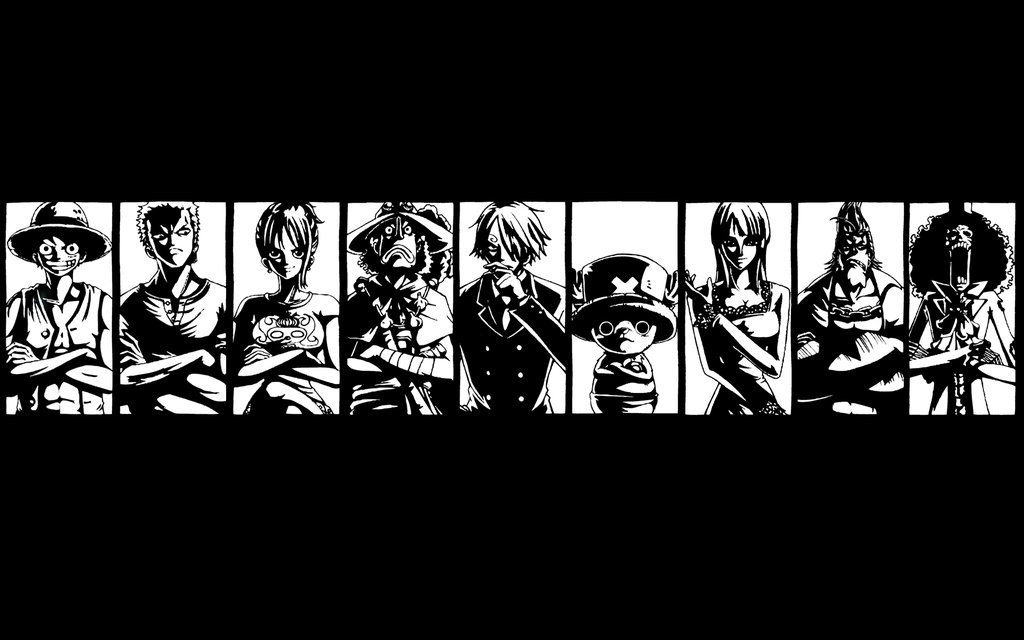 One Piece Wallpaper: Black and White One piece wallpaper