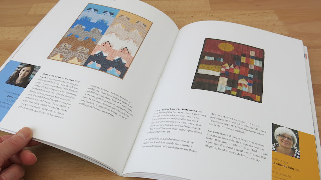 Luna Lovequilts - My mini quilt 'La ville au loin' published in Curated Quilts House issue
