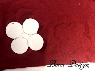 How to create fabric petals from free pattern.