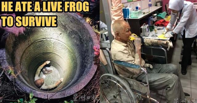 Terjebak Didalam Sumur Selama 37 Jam, Kakek Ini Mengaku Makan Kodok Hidup Untuk Bertahan Hidup