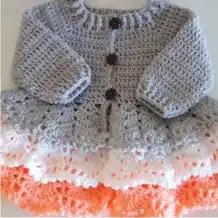 Vestido Bebé Capas a Crochet