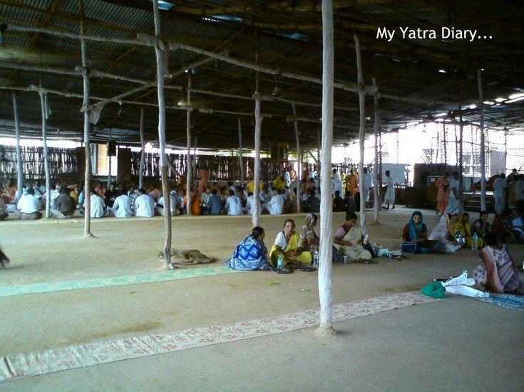 Prasadam hall of ISKCON temple, Vrindavan