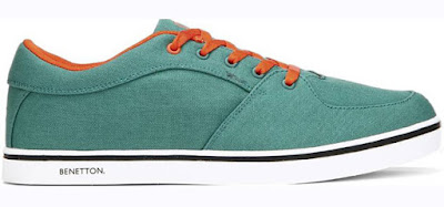 United Colors of Benetton Green Canvas Sneakers