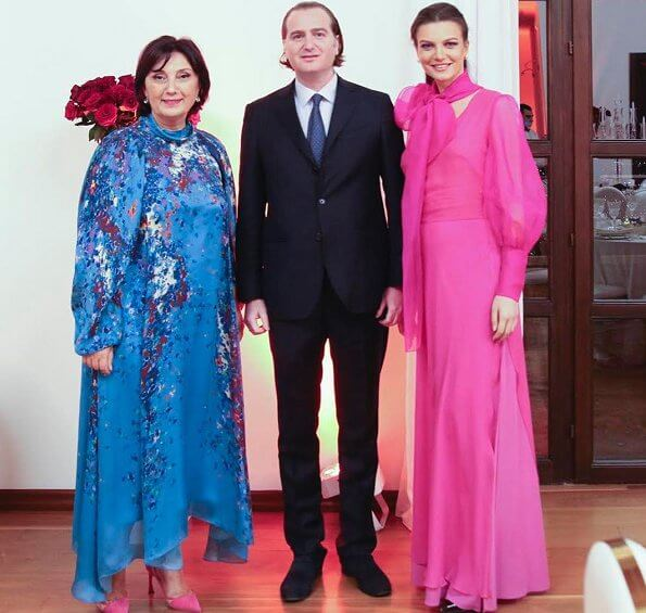 Princess Charlene, Director General of the Ai la Foundation Nana Gotua, Prince Juan Bagration-Mukhrani and Princess Kristine De Bagration-Mukhrani