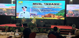Pj Gubernur Jambi Secara Resmi Membuka Musrembang RKPD 2022