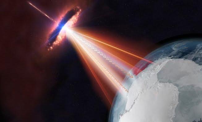 Scoperta origine di una particella fantasma da un'altra galassia.