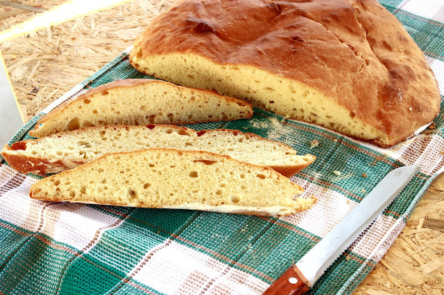 Slika pečenog domaćeg hleba koji se ne mesi