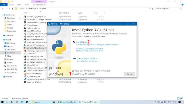 Proses Penginstallan Python pada Windows