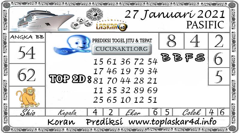Prediksi Togel PASIFIC LASKAR4D 27 JANUARI 2021