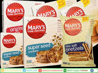 بسكويت Mary's Gone Crackers صحي وعضوي من اي هيرب