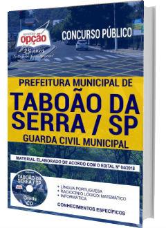 Apostila Concurso Prefeitura de Taboão da Serra 2018 - Guarda Civil Municipal