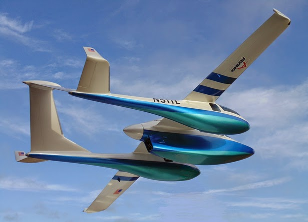 The Triton in flight - Concept Aircraft - Sightseeing airplane - Micronautix