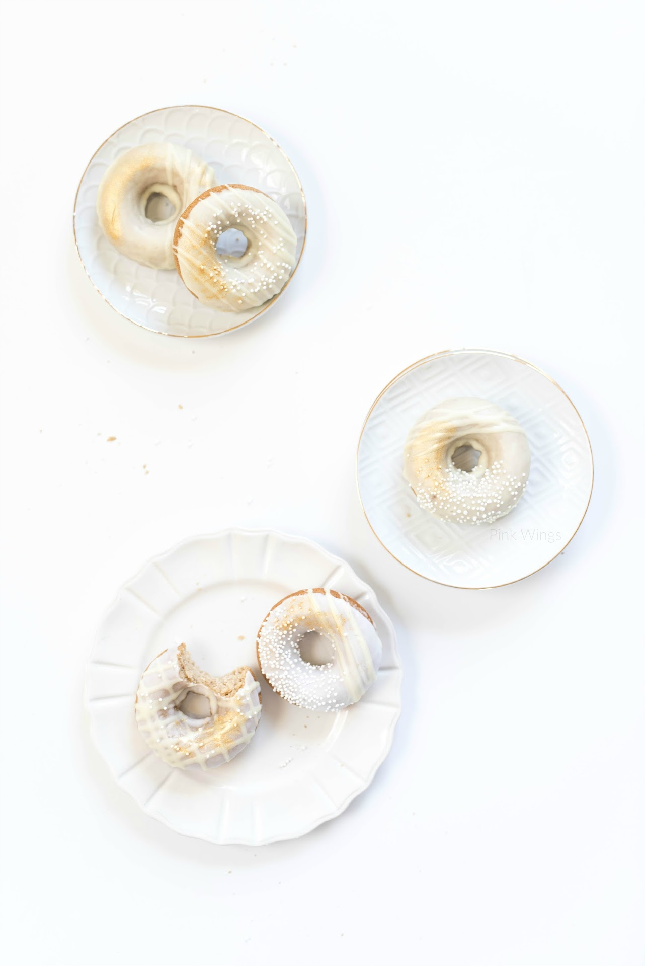 baked doughnuts, cake donuts, carrot cake, healthier donuts, best baked donuts, donut icing recipe, pan donuts, how to decorate donuts, pretty donuts, wedding donuts, yellow and white desserts, gold desserts