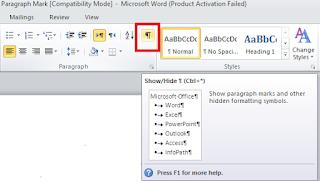 Solusi dan Cara Menghilangkan Paragraph Mark (¶) di Word (Microsoft Word)