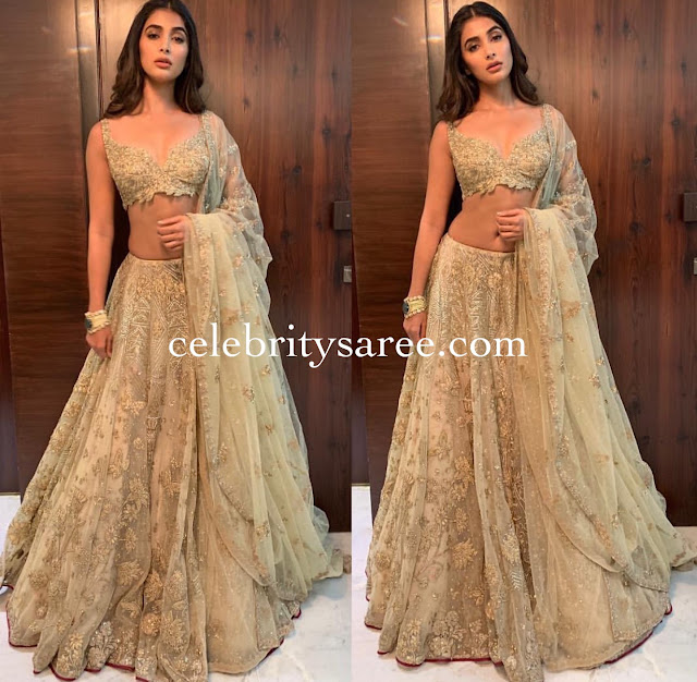 Pooja Hegde Backs Less Blouse