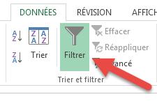 Supprimer tous les filtres