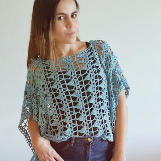 blusa suelta a crochet tutorial paso a paso