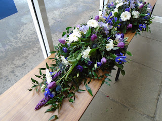 Mum's funeral flowers at Masonhill, 2
