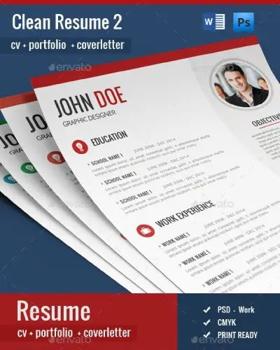 free download cv template psd