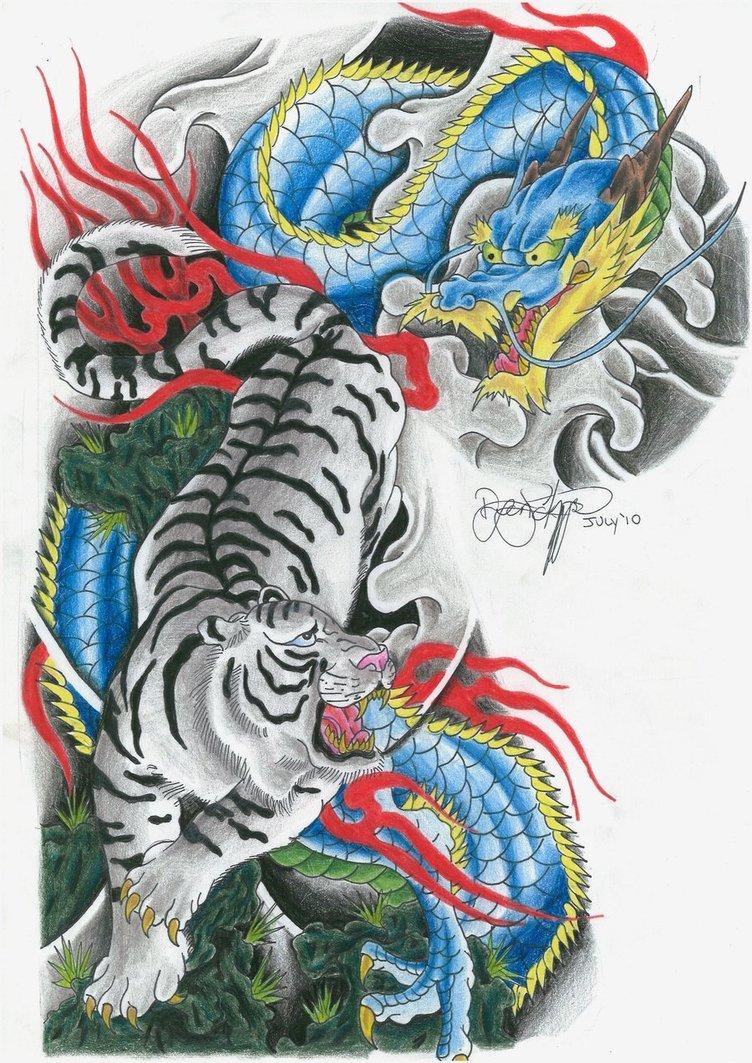tatuajes de dragones orientales
